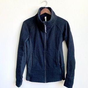 lululemon athletica Jackets & Coats - LULULEMON GREY HIGH NECK JACKET SIZE 6